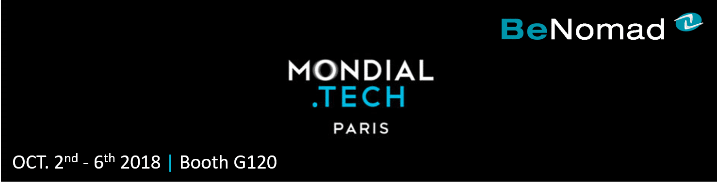 BeNomad @ Mondial Tech – Paris, Oct. 2nd – 6th 2018