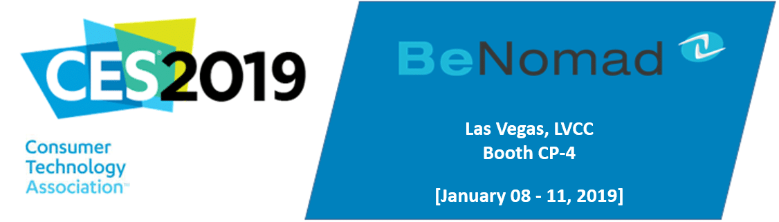 BeNomad @CES on January 8th-11th, 2019 in Las Vegas.