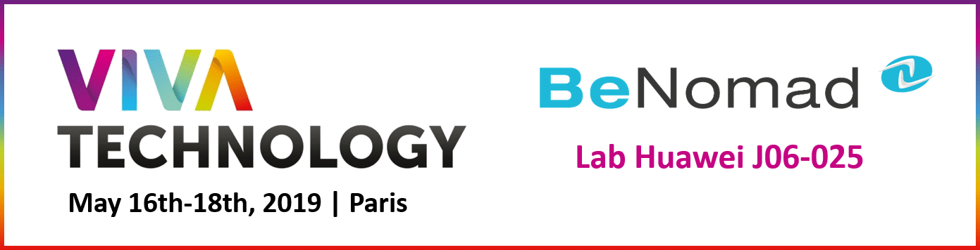BeNomad @VivaTech on May 16th-18th, 2019 in Paris.
